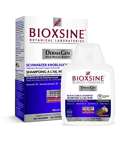 Bioxsine Pflanzliches Shampoo mit schwarzem Knoblauch gegen Haarausfall/Geruchslos/Verhindert Haarausfall/Gesundes Haar/Für alle Haartypen/Frau und Mann 300 ml