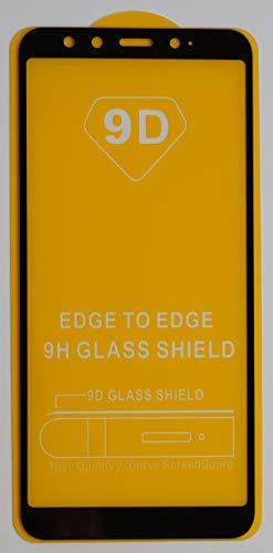 1x Full Cover Schutzglas für Xiaomi Mi A2 / Mi 6X in Schwarz Glasfolie 9H 5D 6D 9D Displayschutzfolie Glass Premium Tempered Glass Protection (kein 3D Glas)