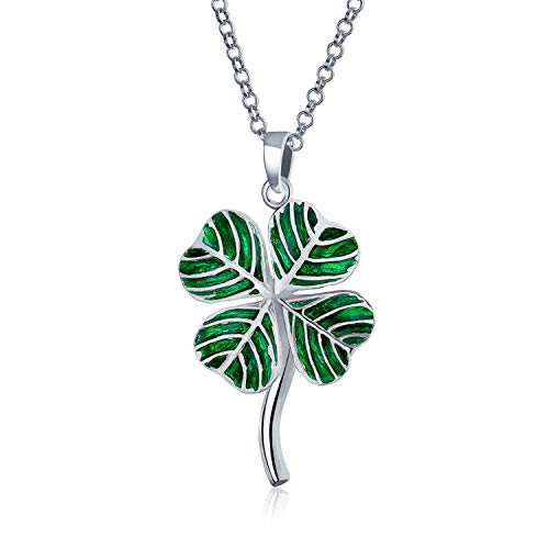 Bling Jewelry Bonne Chance Vert Trèfle Irlandais Charme 4 Fe