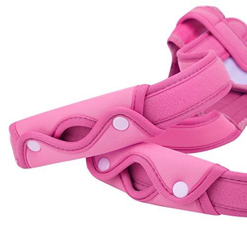 Correttore di postura, raddrizzatore della schiena, colonna vertebrale ergonomica della spalla per le donne che fornisce sollievo dal dolore agli uomini di supporto alla clavicola(pink, M)
