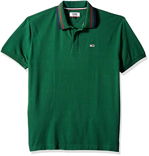 Tommy Hilfiger Men's Polo Shirt Classics Collection, Hunter Green, XL