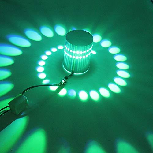 N/C Applique LED Lampe à Effet Spirale Lampe à Trou Trou en Spirale LED Lampe Murale Moderne Famille Salle De...
