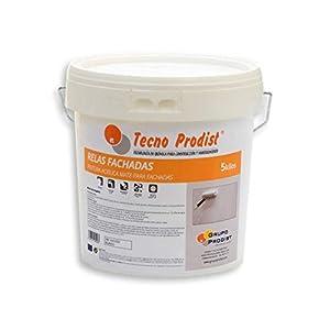 RELAS FACHADAS de Tecno Prodist – 5 Kg (BLANCO) Pintura Acrílica Blanco Mate Impermeabilizante para Fachadas – A Rodillo o brocha – Pintura de Calidad – Fácil Aplicación
