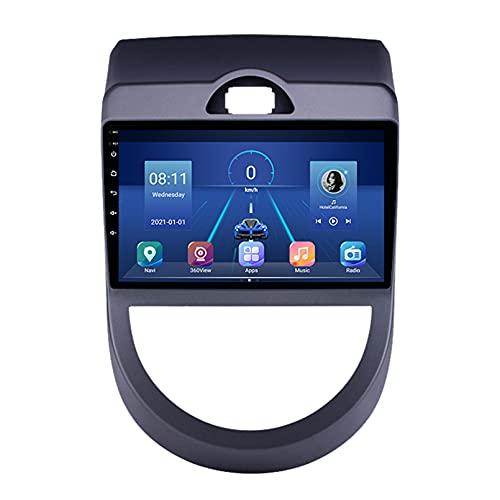 STTTBD 9'Android 10.0 2 Din Autoradio Navi Für KIA Soul 2010-2013 Unterstützung Bluetooth USB WiFi Touchscreen Multimedia Videoplayer GPS Navigation Autoradio(Color:WiFi 1G+16G)