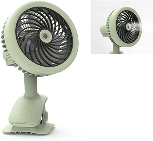 YDH Clip de batería en el ventilador,Actualice el ventilador de nebulización de agua de oscilación automática,Ventiladores de batería recargable Ventilador de escritorio portátil