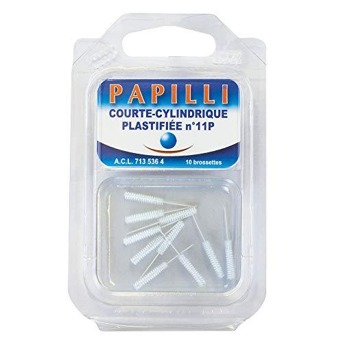 Papilli - Set di 10 scovolini cilindrici plastificati n. 11P per la cura dentale, 21 g