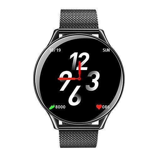 FOONEE SN58 Smart-Watch, ultradünn, HD Smart-Watch, 7 x 24 Herzfrequenz-Erkennung, Schrittzähler, wasserdichte Sportuhr Schwarz