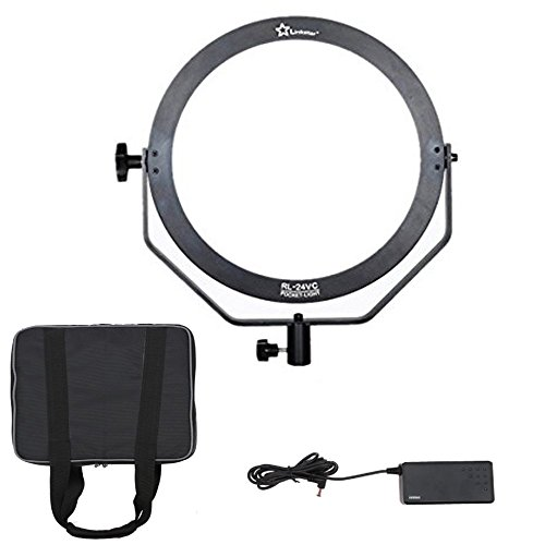 Link Star RL-24VC 24W 3200K-5600K Ring Ultrathin Soft Daylight LED Photo Video Film Shooting Continuous Portable Pocket Light Dimmable For Kids Photography Anchor