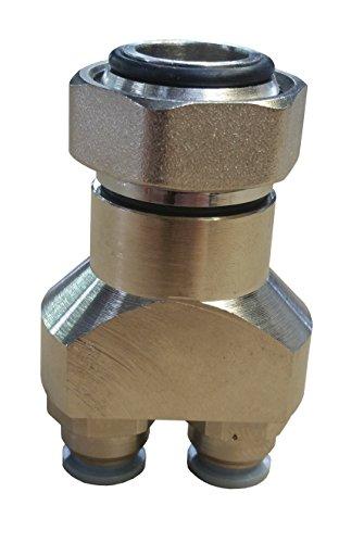 Jollytherm 10091 Aquaheat Verteilerfinger für Doppelrohr Warmwasser Fußbodenheizungen