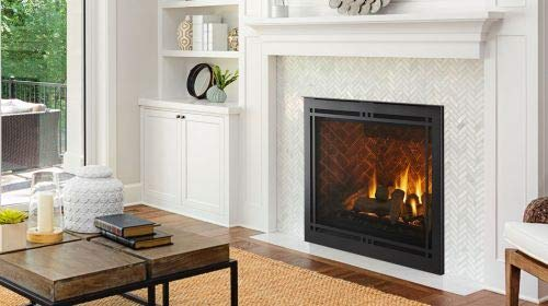Why Choose Monessen 36 Meridian Platinum DV Gas Fireplace w/Black Contemp. Front - NG