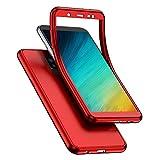 QPOLLY Compatible avec Samsung Galaxy J8 2018 Coque en Silicone Double Face Avant et Arrière 360...