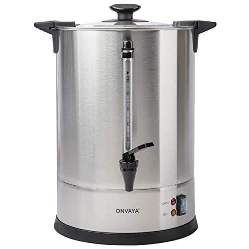 ONVAYA® Gastro Filterkaffeemaschine | Kaffeespender für große Mengen | Industrie Kaffeemaschine | Mengenbrüher mit Heizelement (10,5L)