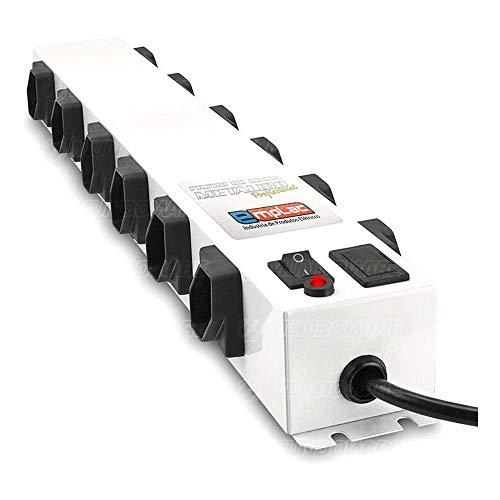 Filtro De Linha Profissional Protetor Eletrônico 12 Tomadas Espaçacadas Extensão Régua Cftv Bivolt Modelo F50103