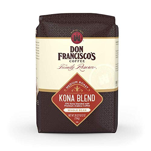Don Francisco's Kona Blend— Medium Roast—Whole Bean Coffee—28 oz. bag