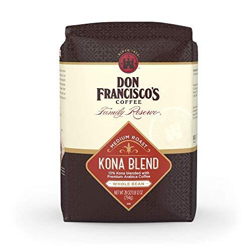 Don Francisco's Kona Blend Medium Roast Whole Bean Coffee, 28 Ounce