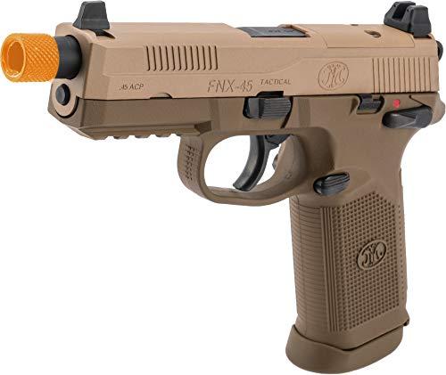Evike Tokyo Marui FN Herstal Licensed FNX-45 Tactical Airsoft Gas Blowback Pistol (Color: Tan)