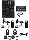 Rockville 2-Person Podcast Podcasting Recording Kit w/Mics+Stands+Headphones