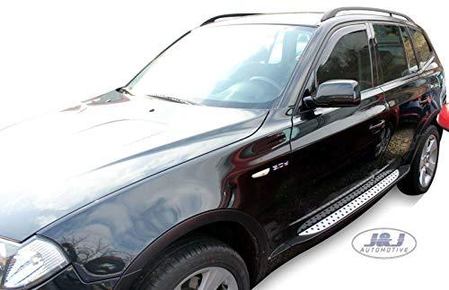 J&J AUTOMOTIVE Windabweiser Regenabweiser für X3 E83 5-türer 2003-2010 2tlg HEKO dunkel