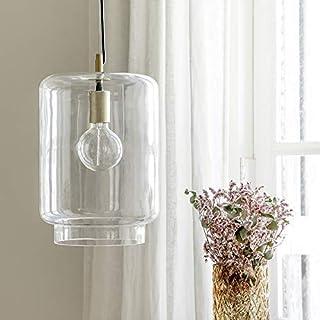 Kenay Home - Lámpara de Techo Salón Comedor Decorativa Vintage Cristal Full