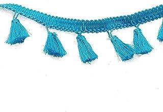 yalulu 5/yardas negro Arco Iris Pom Pom Bola Cinta de encaje con borla PomPom Trim bolas flecos ropa Cable de tela DIY Craft Costura Suministros