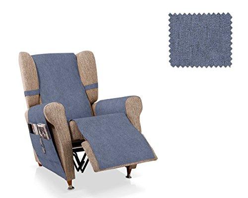 JM Textil Copripoltrona Relax Pharma Dimensione 1 Piazza (55 Cm.), Colore Blu