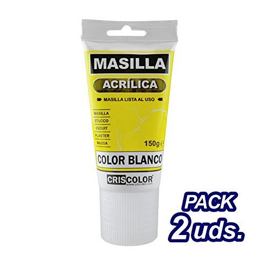 CRISCOLOR Brico Masilla acrilica blanca 150gr. Pack 2 unidades