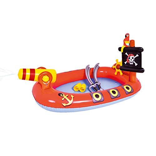 longchun east Inflatable Swimming Pool, Thickened Padding Pirate Pool Outdoor Water Play Center Pool for Kids Adults Garden Summer Water Party (110 * 190cm)