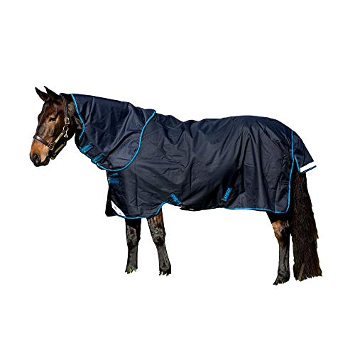 Horseware Amigo Bravo 12 lite Disc 100g Regendecke Navy with Navy & Electric Blue (155)