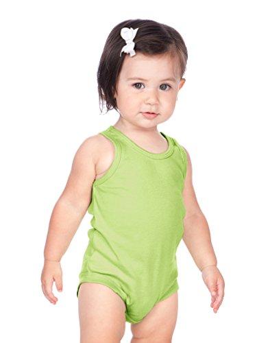 Kavio! Unisex Infants Scoop Neck Tank Onesie Lime 12M