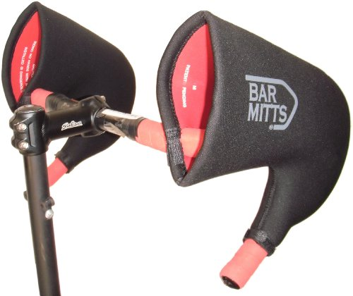 Bar Mitts Cold Weather Road Bicycle Handlebar Mittens fits Campy/SRAM/Shimano Shifters with Internally Routed Cables, Large
