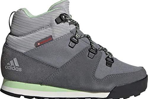 adidas Unisex Kinder Snowpitch C.Rdy K Laufschuh, Grey Three/Grey Four/Glow Green, 28 EU