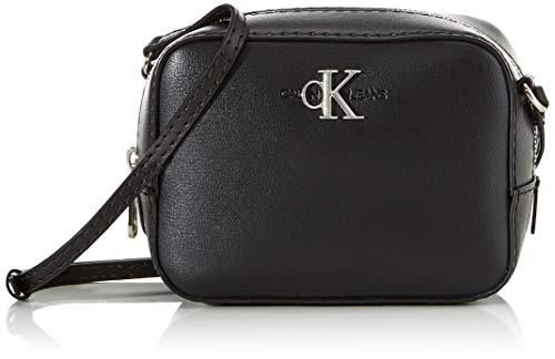Calvin Klein Damen Ckj Mono Hardware Camera Bag Umhängetasche, Schwarz (Black), 1x1x1 cm