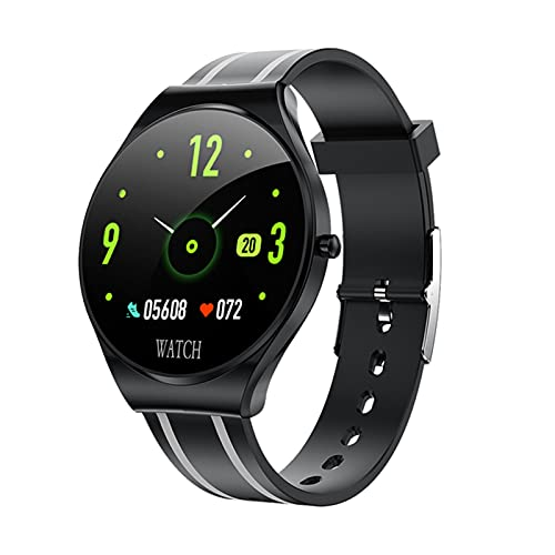 ZGNB Smart Sports Watch, Td26 Pulsera Impermeable, Hombres Y Mujeres, Ritmo Cardíaco 1.22 Pulgadas Reloj Inteligente Bluetooth Touch Completo para Android iOS,C