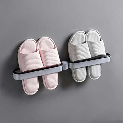 BECCYYLY Estante de Zapatos de Pared Estante de Zapatillas de baño Estante de Pared para Colgar en la Pared Almacenamiento de Zapatos de Inodoro Estante de Zapatero sin Perforaciones para Inodoro