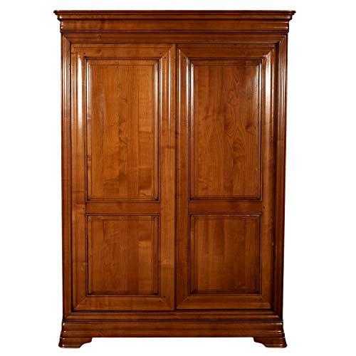 GONTIER - Armario puertas correderas de madera maciza de cerezo D-100% fabricado en Francia