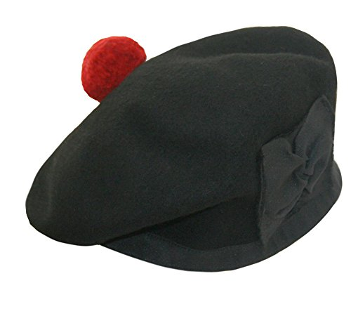 Maze Maze Schottische Balmoral-Mütze aus Wolle Hut barett