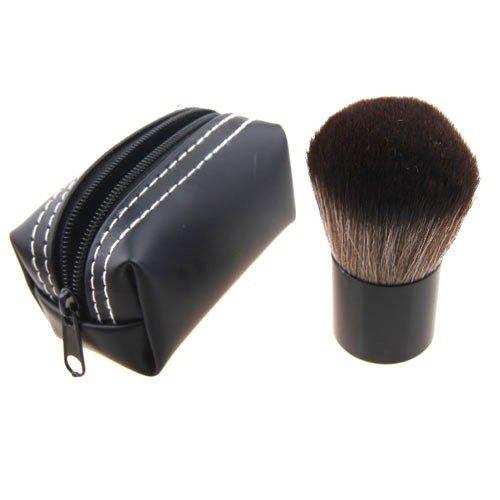 Maquillage Pinceau Kabuki avec Tube En Aluminium Et Poils En Nylon - Étui similcuir noir by DELIAWINTERFEL