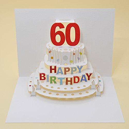 Forever Handmade Pop Up Karte zum 60. Geburtstag - eine hochwertige und originelle Geburtstagskarte, Glückwunschkarte oder Einladungskarte, auch Geschenkgutschein oder Geldgeschenk. GP048
