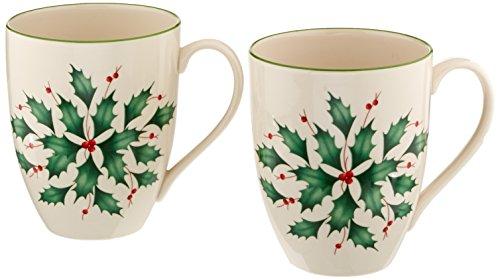 Lenox 2-Piece Holly Mug Set