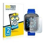 brotect Pellicola Protettiva Compatibile con Vtech Kidizoom Smart Watch DX2 Pellicola Trasparente (2 Pezzi) Anti-Impronte