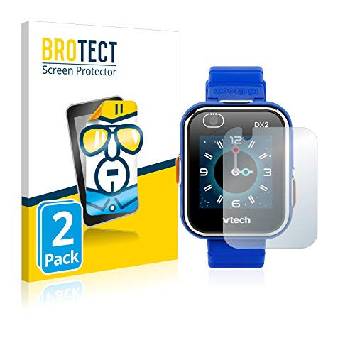 BROTECT Protector Pantalla Compatible con Vtech Kidizoom Smart Watch DX2 Protector Transparente (2 Unidades) Anti-Huellas