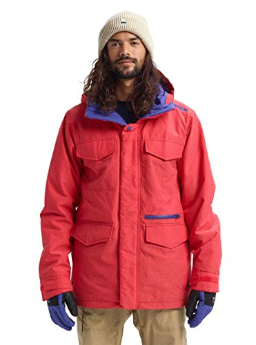 Burton Herren Men's Covert Jacket Slim Snowboard-Jacken, Flame Scarlet Ripstop, Medium