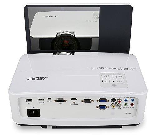 Acer U5320W DLP Projektor (WXGA 1.280 x 800 Pixel, 3.000 ANSI Lumen, Kontrast 13.000:1, Ultrakurzdistanz)