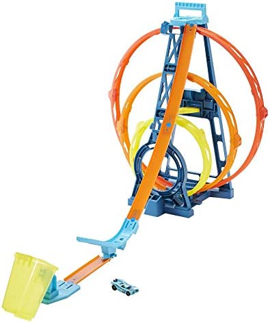 Hot Wheels GLC96 Track Builder Unlimited Triple Loop Kit, Multi-Coloured