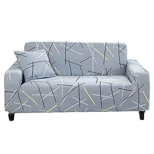 WXQY Funda elástica para sofá Funda para sofá de Sala de Estar, Funda para sofá elástica seccional, Funda para sillón en Forma de L A5 4 plazas