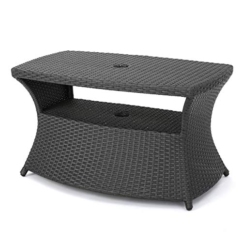 Christopher Knight Home 300301 Banta Outdoor Wicker Side Table (Grey)