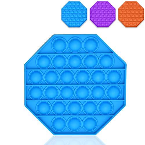 L + H WORLD Push Pop Bubble Sensory Fidget Toy | Pop it Fidget Toy Spiel – das Original | Bubble Push Pop Squeeze Toys - Hexagon Kreis Herz Quadrat Sensorik Spielzeug - Der Trend 2021
