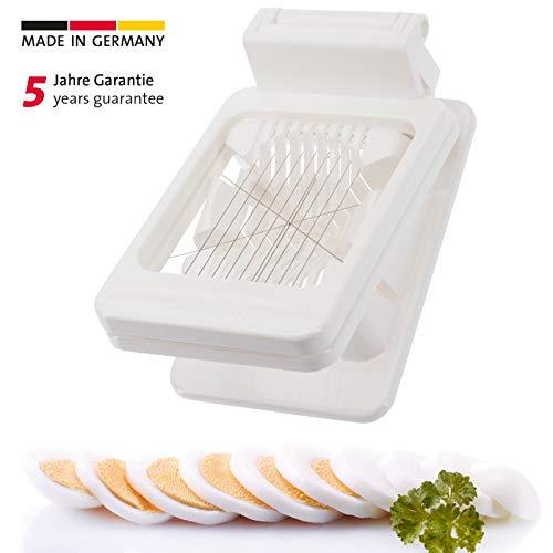 Westmark Kombi-Eierteiler/-stückler, Kunststoff/Rostfreier Edelstahl, 13,9 x 8,5 x 4 cm, Weiß, 10752260