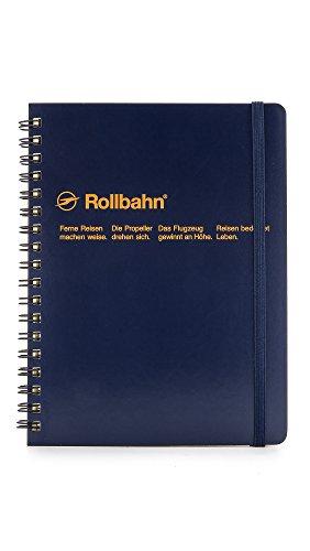 Delfonics Men's Rollbahn Spiral Notebook, Dark Blue, One Size