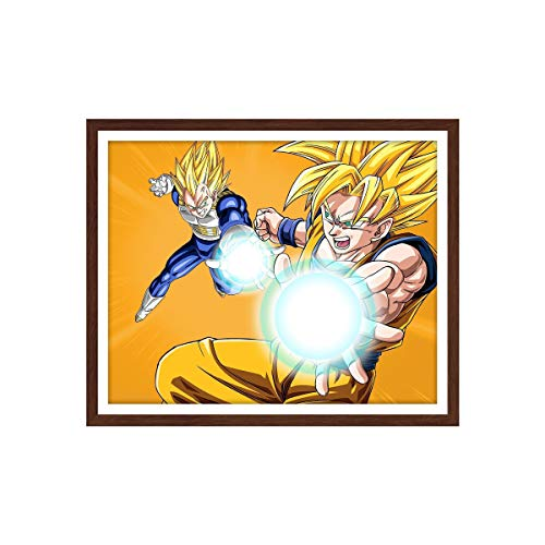 Manga Dragon Ball Anime Canvas Poster Goku Wall Poster for Bedroom Decoration,8x10 Inches, Unframed